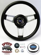 """1978-1991 Bronco steering wheel BLUE OVAL 13 3/4"""" Grant steering wheel"""