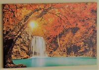 "Led Lighted Waterfall Canvas Wall Art Large Size 23-5/8"" x 15-7/8"""