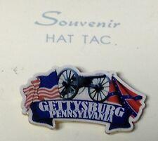 GETTYSBURG PENNSYLVANIA CANNON CROSSED FLAGS LAPEL PIN HAT TAC NEW