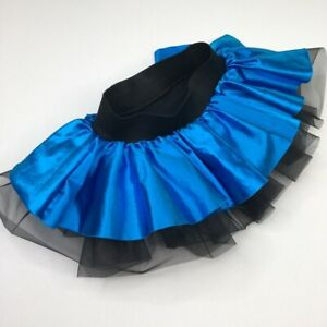 Balera Dancewear Child Girls Dance Skirt Blue Shorts Size IC 7/8 USA Pageant