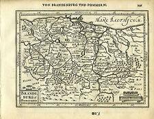 1651 Antique map northeast Germany, Brandenburg, Pomerania. Mercator/Jansson