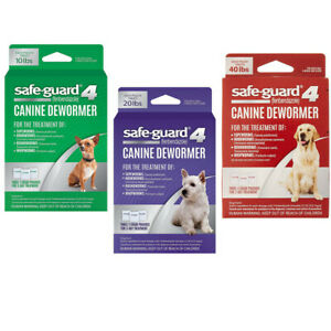 Safe-Guard 4 Canine Dewormer Dog Roundworm Hookworm Tapeworm Whipworm SafeGuard