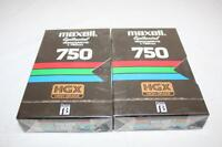 2 pcs Maxell HGXL-750 Epitaxial Beta Betamax Videocassettes HighGrade New Sealed