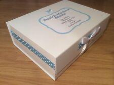 Extra Large Personalised New Baby Boy Girl Keepsake Memory Box Christening Gift