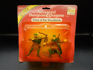 MOC 1982 tsr ELVES OF THE WOODLANDS Advanced Dungeons & Dragons PVC figures LJN