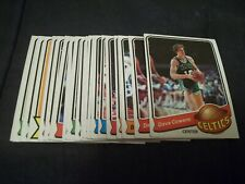 1979-80 Topps Basketball Singles (you choose from list)