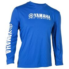 Yamaha Pro Fishing Moisture Wicking Long Sleeve T-Shirt Large Blue CRP-14SLS-BL