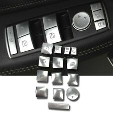 14pcs Polished Silver 4 Door Window Switch Button Cover For 10-16 W212 E350 E63