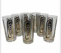 7pc Vintage Atomic MCM Drinking Glasses Tumblers Mid Century Retro Bar Wear