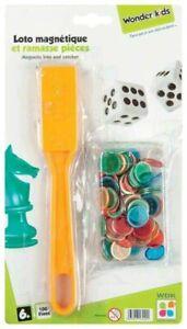 Ramasse jeton magnétique + 100 jetons pions - Bingo Loto - Couleur vert