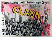 "Reproduction The Clash ""Brixton Academy"" Poster, Joe Strummer, Home Wall Art"
