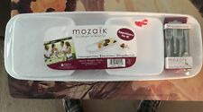 """""""MOZAIK APPETIZERS FOR 8""""- INCLUDES 1 PLATTER-8 SQUARE PLATES-24 APPETIZER FORKS"""