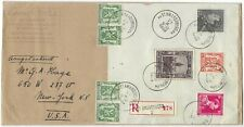 Belgium 1938 registered cover with Borgerhout miniature sheet