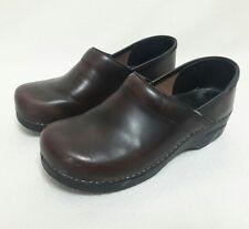 Dansko Brown Leather Professional Clogs Comfort Nursing Shoes 40 US 9.5 10