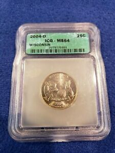 2004 D ICG MS64 Wisconsin State Quarter