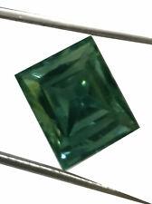Fancy Moissanite Diamond 4 Ring 2.20Ct Vvs1/Gray Green Color Loose Emerald