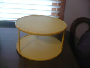 Rubbermaid Lazy Susan Turntable SPICE Organizer GOLD 2-TIER