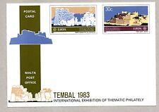 > MALTA 1983 TEMBAL '83 BASEL POSTAL CARD UNUSED