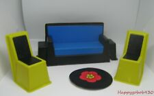 Furniture For Vintage Mod Barbie Family House Sofa 2 Chairs & Table Top