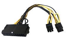 12-Inch ATX 24-Pin Female to Dual 6-Pin PCI-E Male 18AWG Converter GPU Adapter