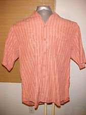 Tommy Bahama Men's 100 silk Shirt short Size Extra Large XL mauve hawiian