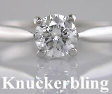 Diamond Solitaire Platinum Ring 0.70ct Brilliant Cut Certificated 4 Claw Setting