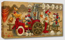 Disney Fine Art Treasures on Canvas Mickey's Fire Brigade- Tim Rogerson