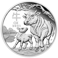 2021 Australia PROOF Lunar Year of the Ox 1oz Silver $1 Coin Series3