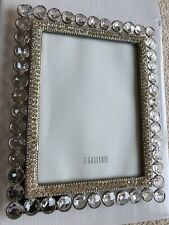 "Z Gallerie Rhinestone Crystal Designer Photo Picture Frame 5""x 7"" Silver New"