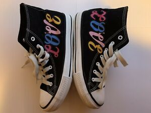 Boohoo Love High Top Canvas Sneakers Size 7