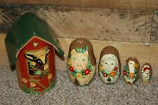 Old Mcdonald Had A Farm Nesting Dolls Farm Pig Sheep Goose Hen 6 1/2 In - 2 In