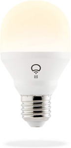 LIFX Mini White E27 Wi-Fi Smart LED Light Bulb, Dimmable, Warm White, No Hub and