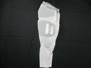 Nike Pro Combat Padded Compression Pants Men's White Poly NEW Multiple Sizes