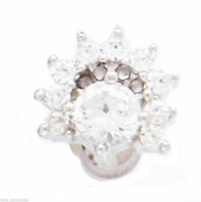 """16 Gauge 1/4"""" 8mm Body Jewelry Cartilage/Tragus Ear Fancy Covered in Clear Gems"""