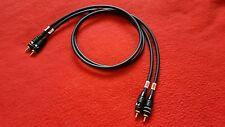 Mogami 2534 Interconnect Audio Cable Nakamichi RCA Connector Plug Black 12 ft