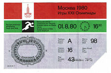 USSR Soviet Russian Moscow Olympic Games 1980 01.08.1980 Stadium Ticket