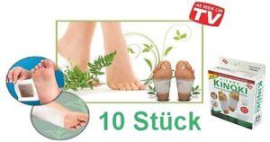 10 Stück Kinoki Bambuspflaster Vitalpflaster Vital Fußpflaster Bambus Füße