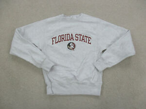 VINTAGE Florida State Seminoles Sweater Adult Extra Small Gray Champion Men 90s