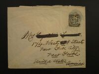 Great Britain 1894 2.5p Postal Stationery Cover to USA - Z6112