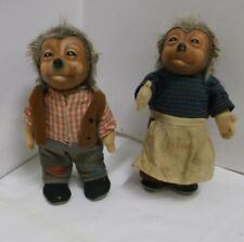 Original 60er Jahre Mecki Paar Steiff 2 Figuren Sammlerstücke Vintage