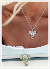 Bohemian Silver Elephant charm necklace