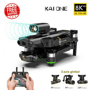 KAI ONE Pro/Max GPS Drone 8K Dual Camera Three-axis gimbal Brushless Quadcopter