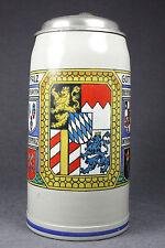 "Alter Bierkrug BAYERN U. PFALZ GOTT ERHALT' S old Beer Stein ""Baverian coat o a"""
