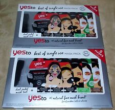 2 Pack: Yes To Best of Single Use Mask Pack Variety 5 Masks (Total 10 Masks)