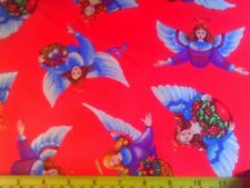 Quilting Treas Quilt Fabric Touch By Angel Angels on Fuchsia Pink Christmas BTY