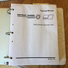 Detroit Diesel Mtu Pmg Standby Generator Sets Operation Amp Service Manuals Guide