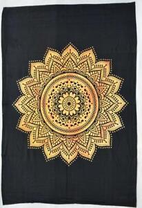Floral Mandala Tapestry Bohemian Wall Hanging Tapestry,(POSTER (77X102CM)-100