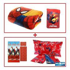 Trapunta + Completo Lenzuola 3 pezzi Spiderman Letto Singolo coordinato Marvel