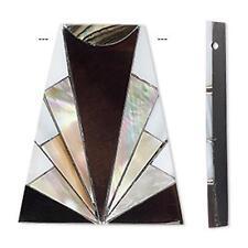 4332 Pendant Shell Art Deco Trapezoid 22mm PK1 *UK EBAY SHOP*