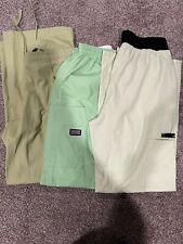 Lot Of 3 Green Scrubs Womens Medical Small Baby Phat Cherokee Lime Pants